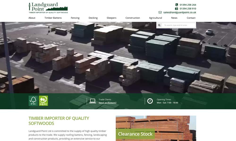 Landguard Point's new website